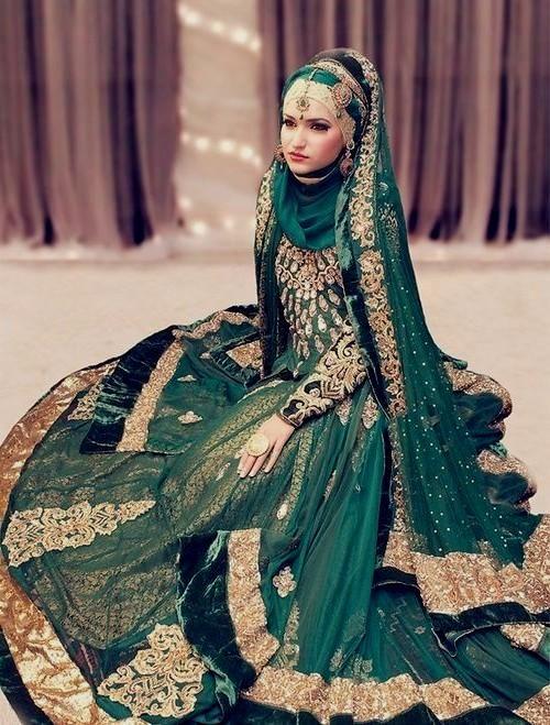 indian muslim wedding dress for women