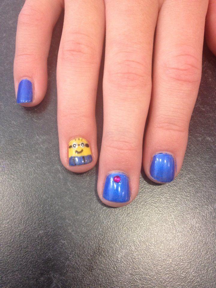 minion, despicable me, nail art, manicure | My Nail Art | Pinterest