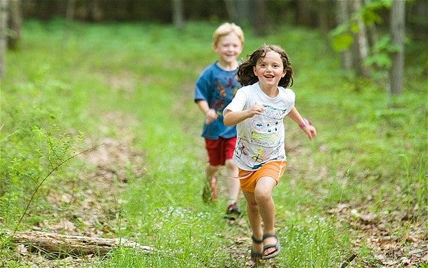 Trust found children today spend fewer than ten per cent of their playtime in…