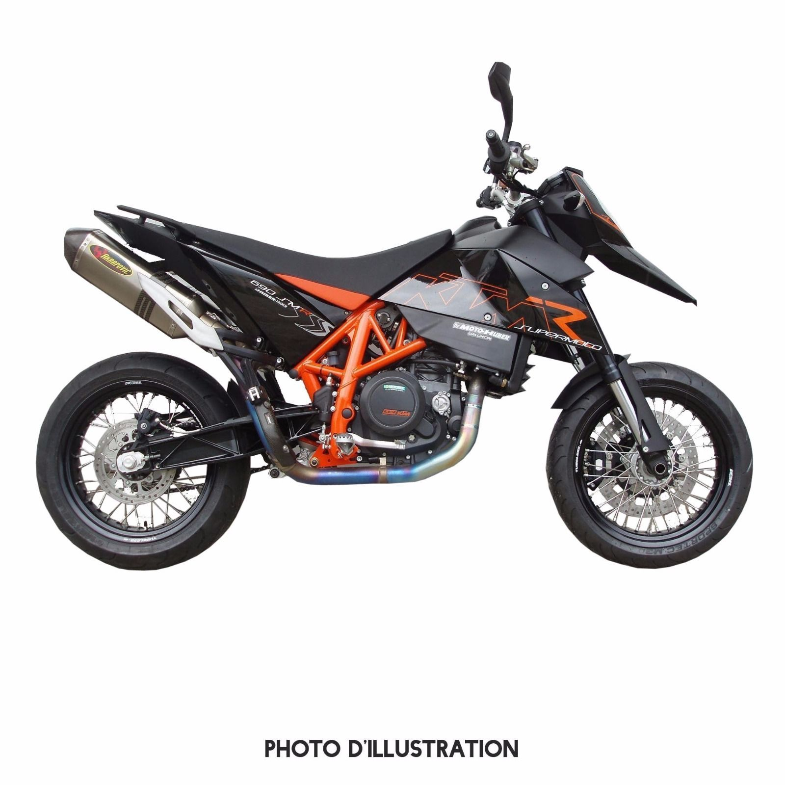 ligne akrapovic full exhaust system ktm 690 sm smr. Black Bedroom Furniture Sets. Home Design Ideas