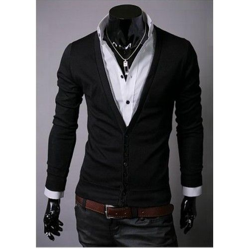 SLIM FIT KNIT CARDIGAN