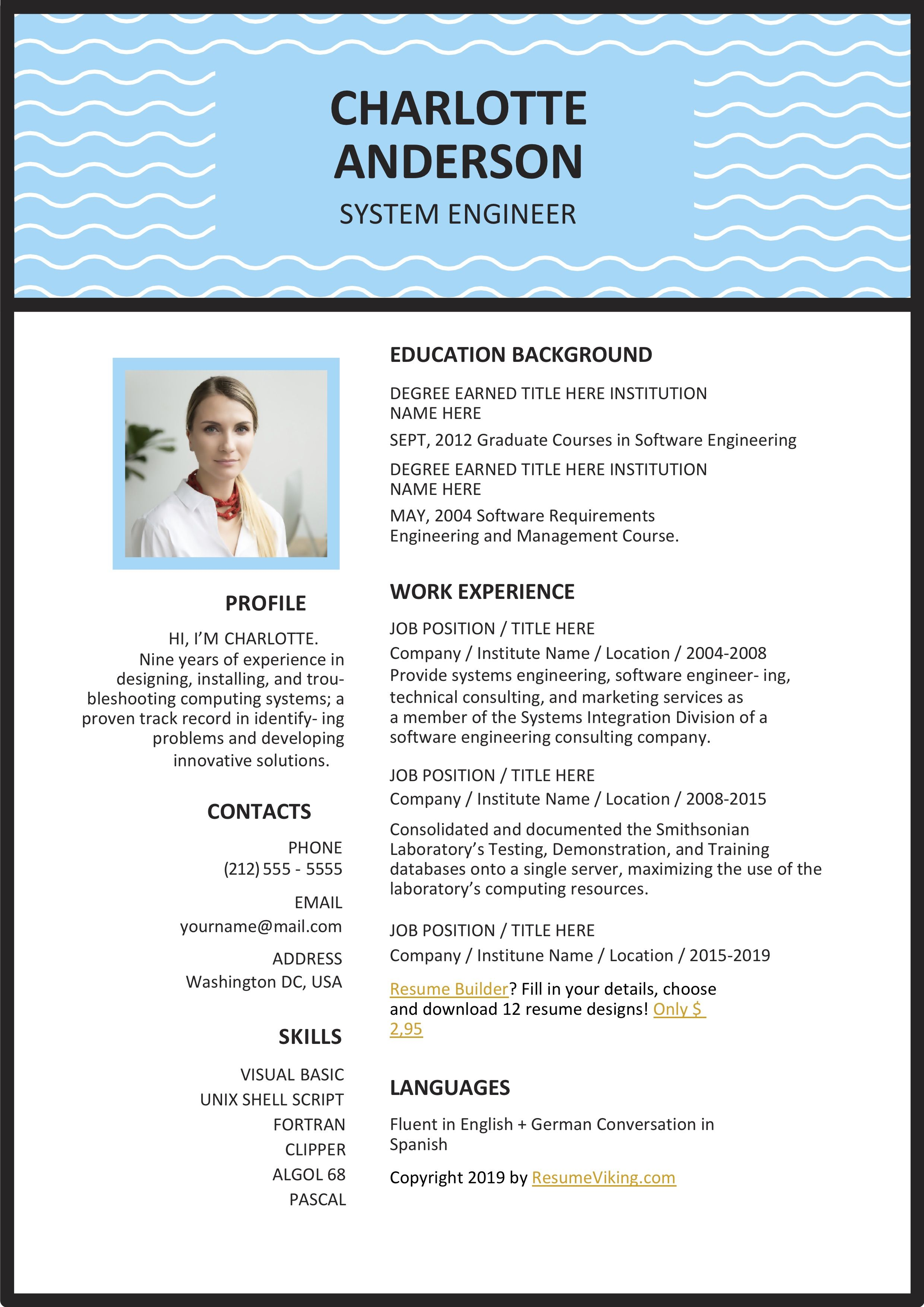 Free Ms Word Resume Template Words Resume Templates Resume Template