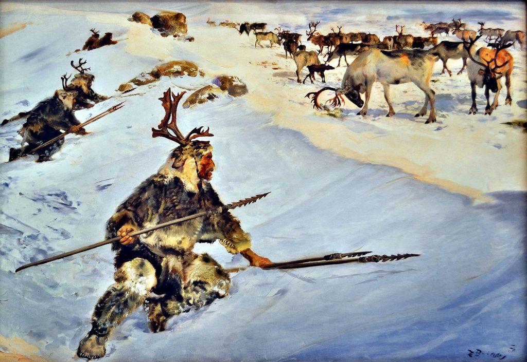 Magdalenian reindeer hunters Prehistoric world