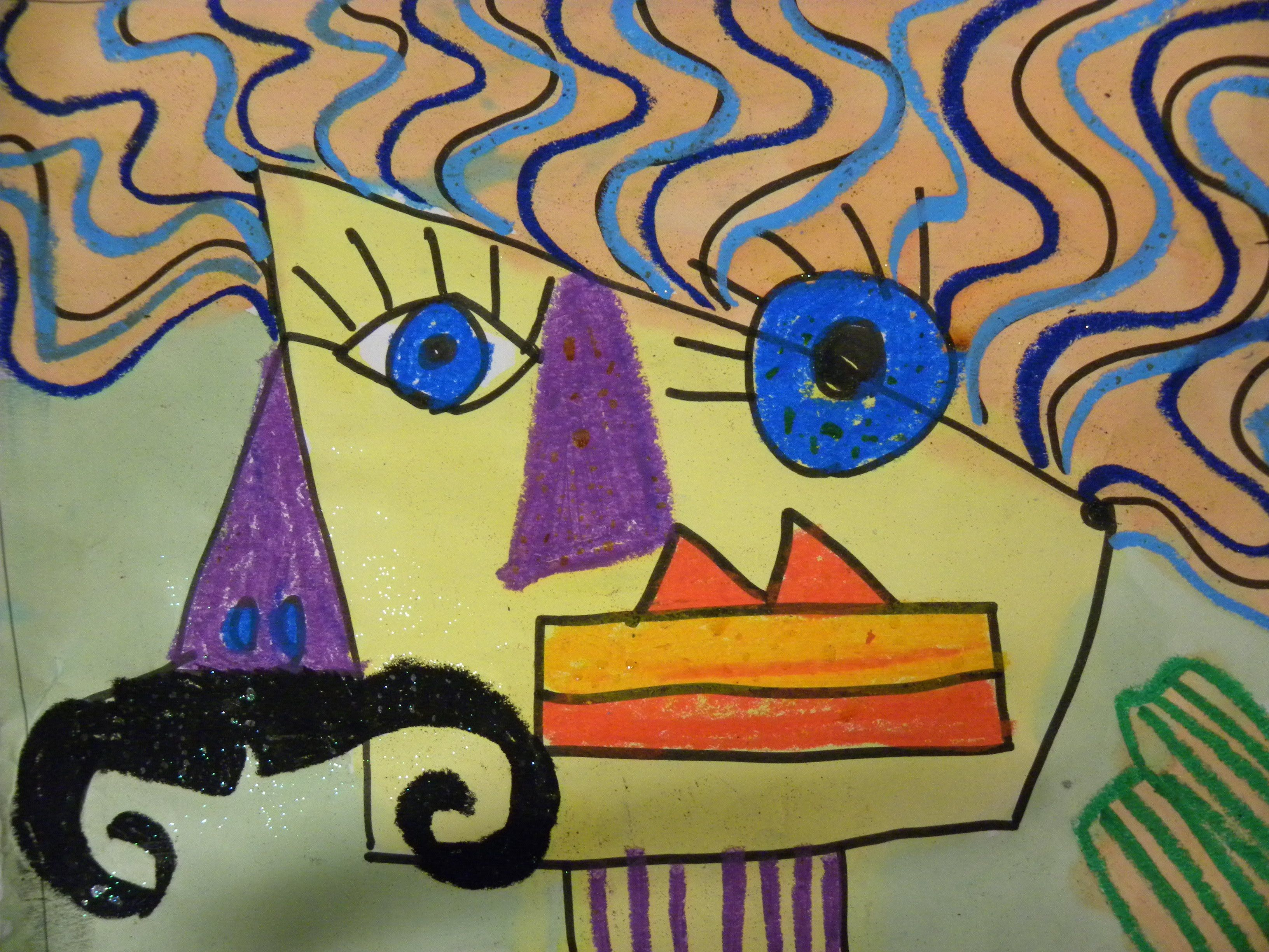 Kids Can Draw Picasso Portraits For Young Kids