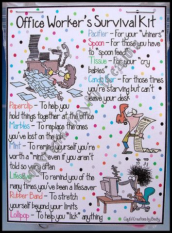 Manager Survival Kit Funny : manager, survival, funny, Office, Worker's, Survival, Gifts,, Employee, Appreciation, Gifts