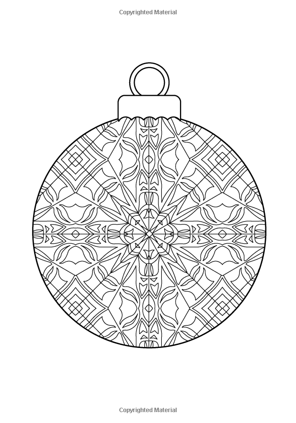 intricate coloring pages christmas - photo#27