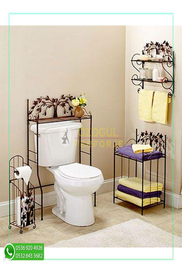 Photo of Wrought Iron Custom Design Bathroom Shelf / Wrought Iron Special Design Bathroom Shelf