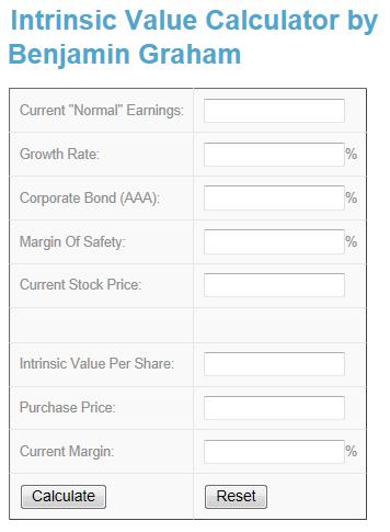 Intrinsic Value Calculator @ www investingcalculator org