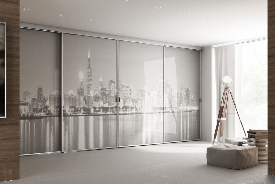 Portes De Placards Sur Mesure Avec Impression New York, Réalisable