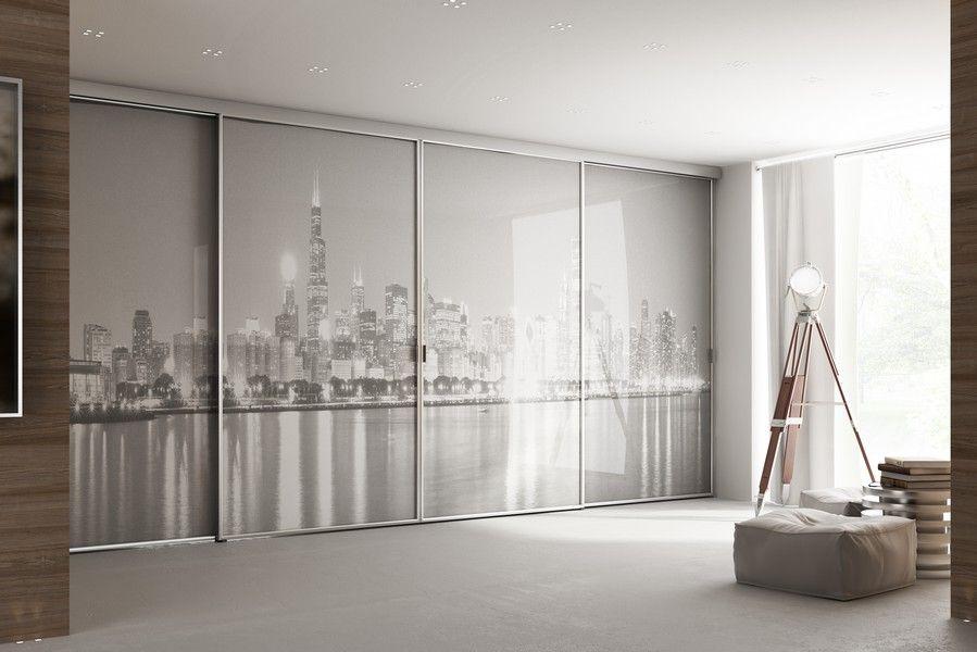 Portes de placards sur mesure avec impression New York, réalisable
