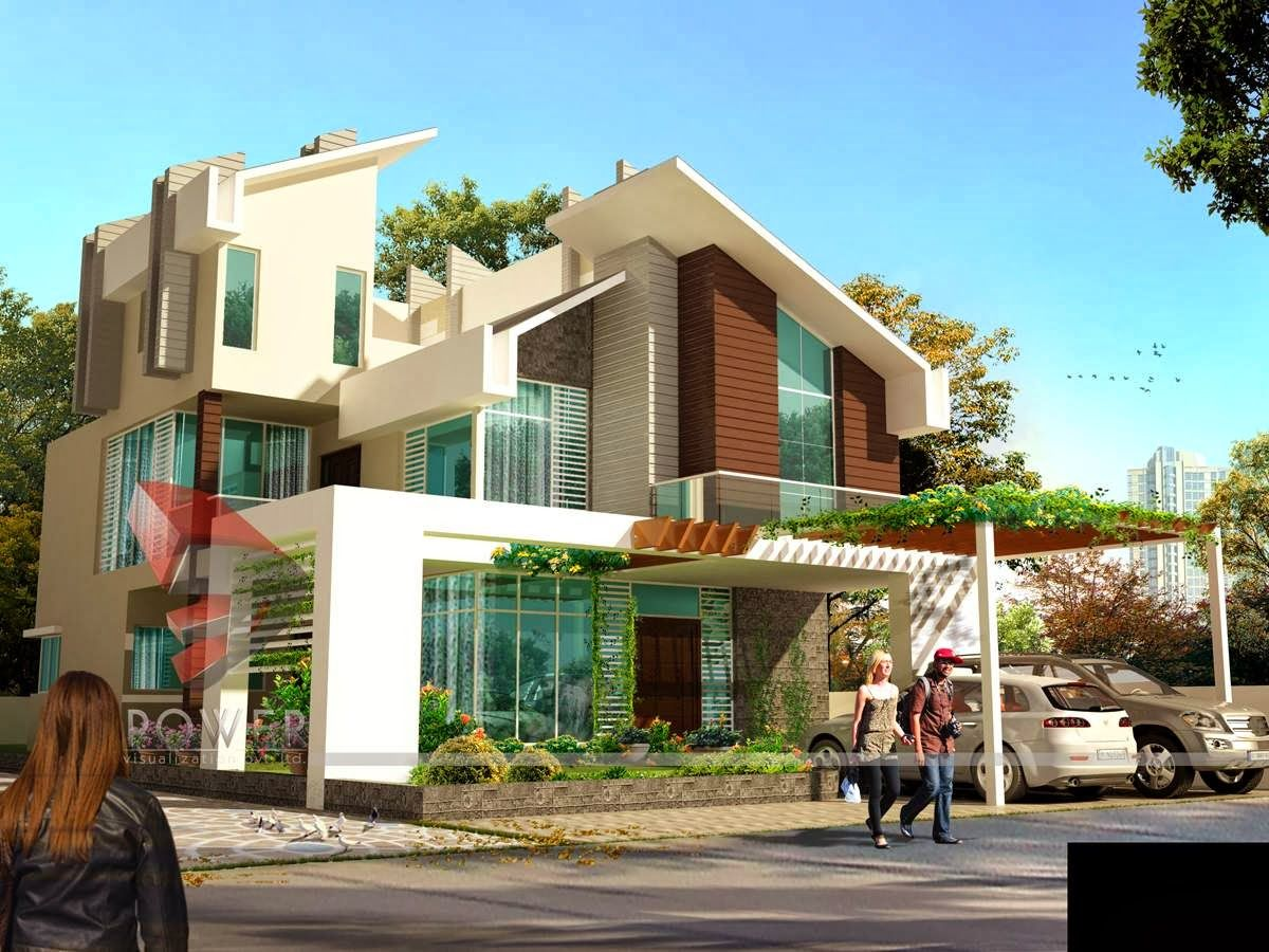 Ultra Modern Home Designs House 3d Interior Exterior Design Rendering