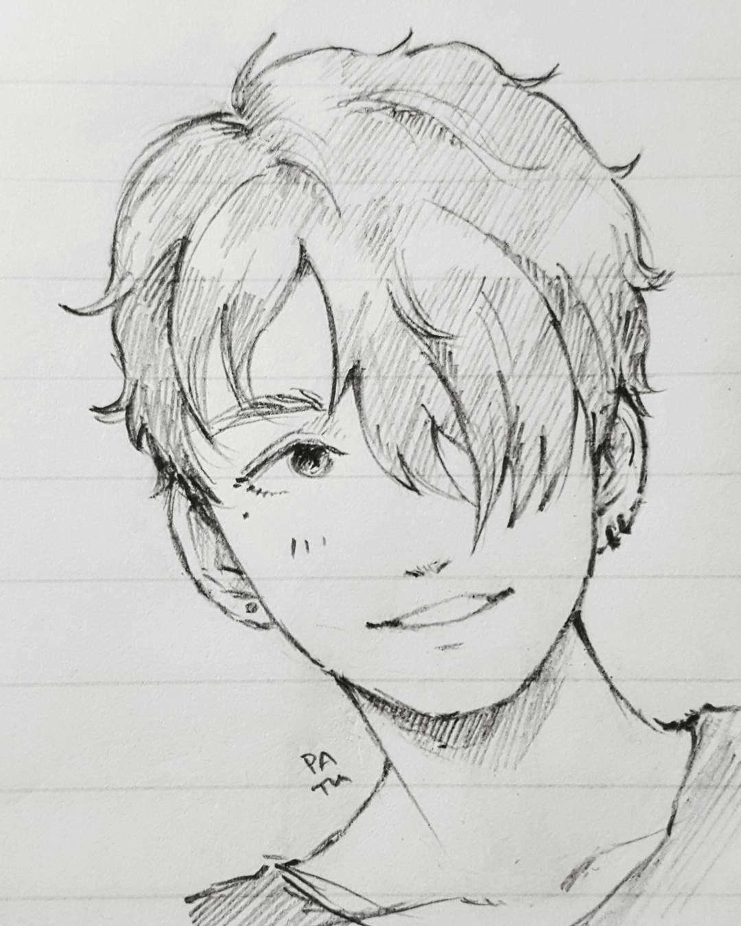 Looks like a teenage Victor From YOI | Bocetos, Dibujos ...