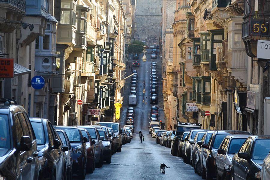 street in Valletta by Helen Green