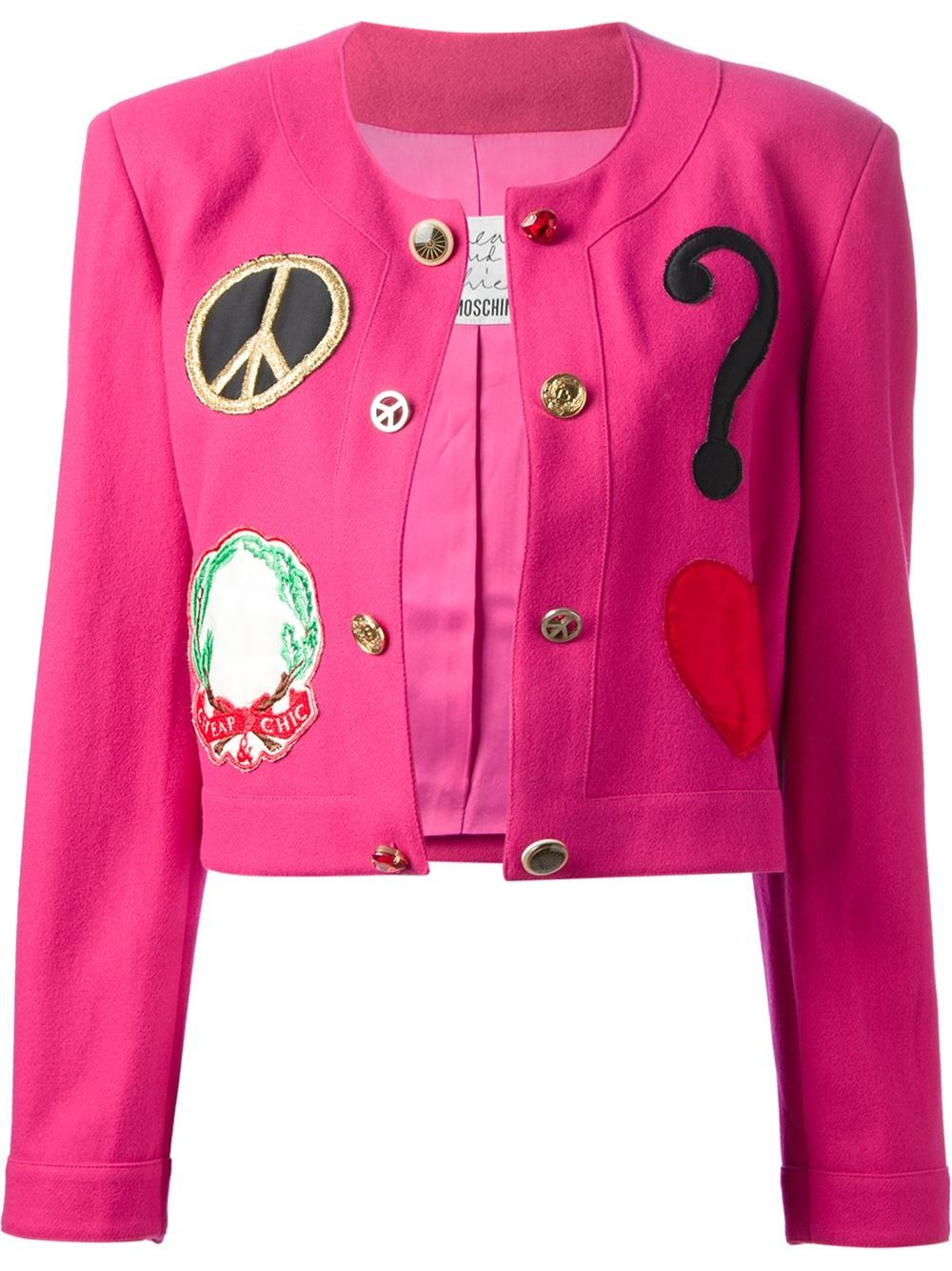 Moschino Vintage Patch Detail Jacket - House Of Liza - Farfetch.com