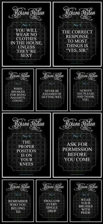 Rules for a submissive wife