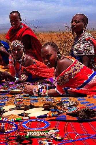 Masai woman of Kenya, Africa