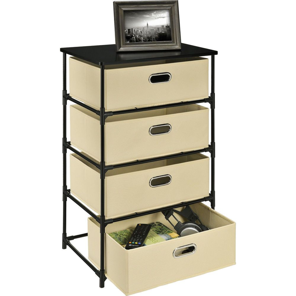 Altra Night Stand Bin Storage End Table Nightstand Furniture