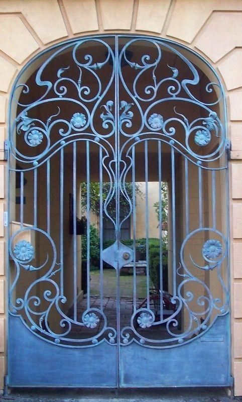 Art Nouveau Wrought Iron Door Wrought Iron Doors Wrought Iron