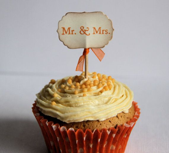 Mr & Mrs Cake Toppers any colour by GeorginaKay on Etsy,