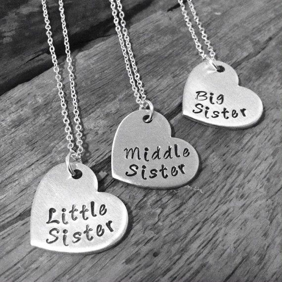 sister necklace matching little sister middle sister and. Black Bedroom Furniture Sets. Home Design Ideas