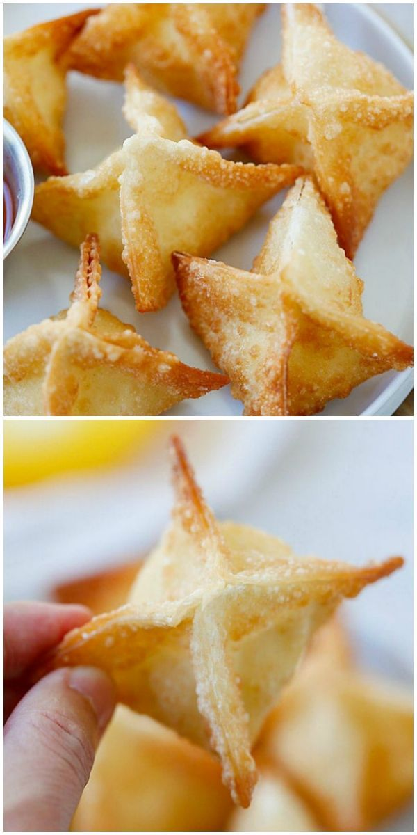 Crab Rangoon - the best and easiest crab Rangoon recipe with cream cheese, crab and wonton wrapper. These cream cheese wontons are fail-proof and much better than Chinese takeouts | rasamalaysia.com #crabrangoondip