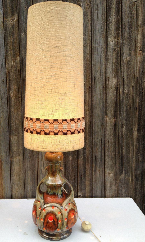Grande Lampe A Poser En Ceramique De Salon Pure 1970 S Etsy Ceramic Lamp Lamp French Vintage
