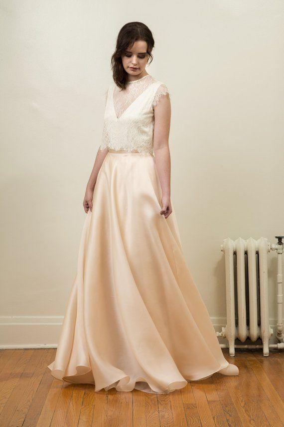 f636d9b4a96c Silk Organza Bridal Skirt - Cendrillon in 2019   Products   Organza ...
