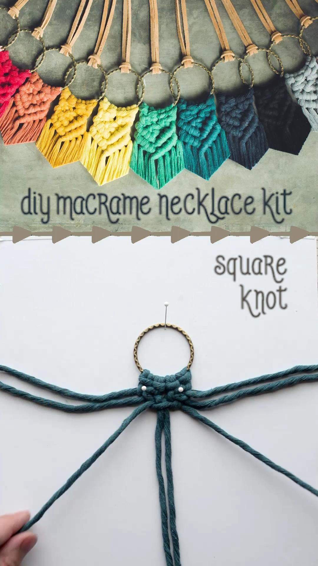 Photo of diy macrame necklace –  create your own macrame necklace // supplies and instruc…