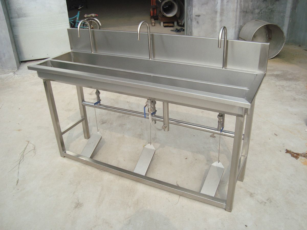 1 5 Meters Foot Pedal Stainless Steel Sink Belt Hand Washing Trough Tape Dispenser Slot Wash Basin China Mainland Trough Sink Sink Kitchen Sink Drainboard