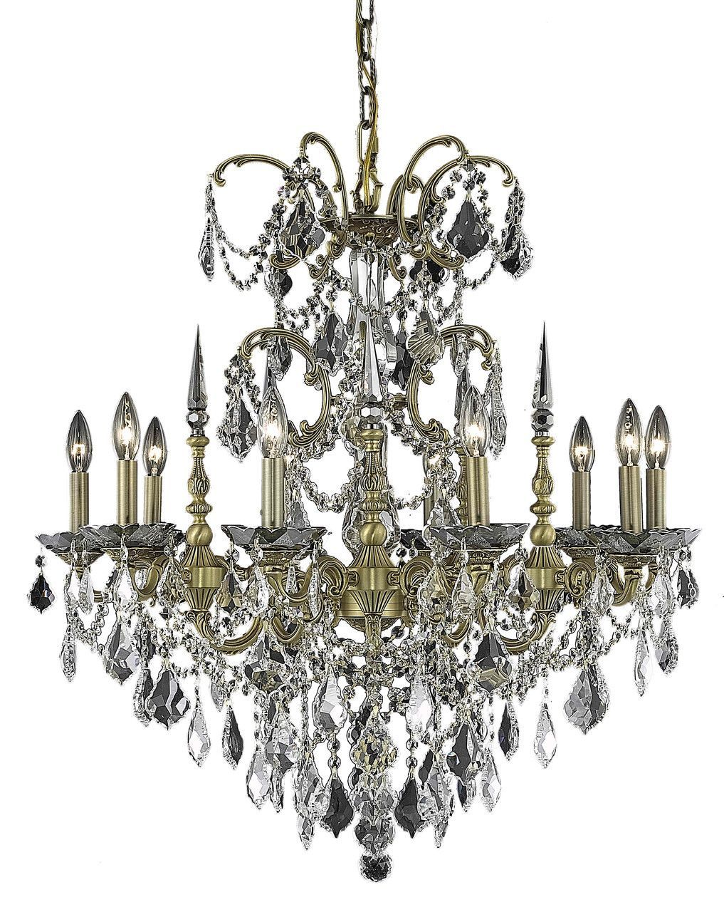 Athena 10 light crystal clear chandelier in french gold finish athena 10 light crystal clear chandelier in french gold finish 9710d30fgrc aloadofball Images