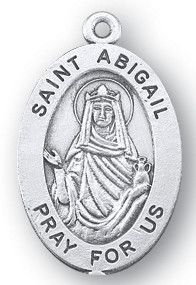 St  Abigail Sterling Silver Oval Medal | FREE Ship $49 | art