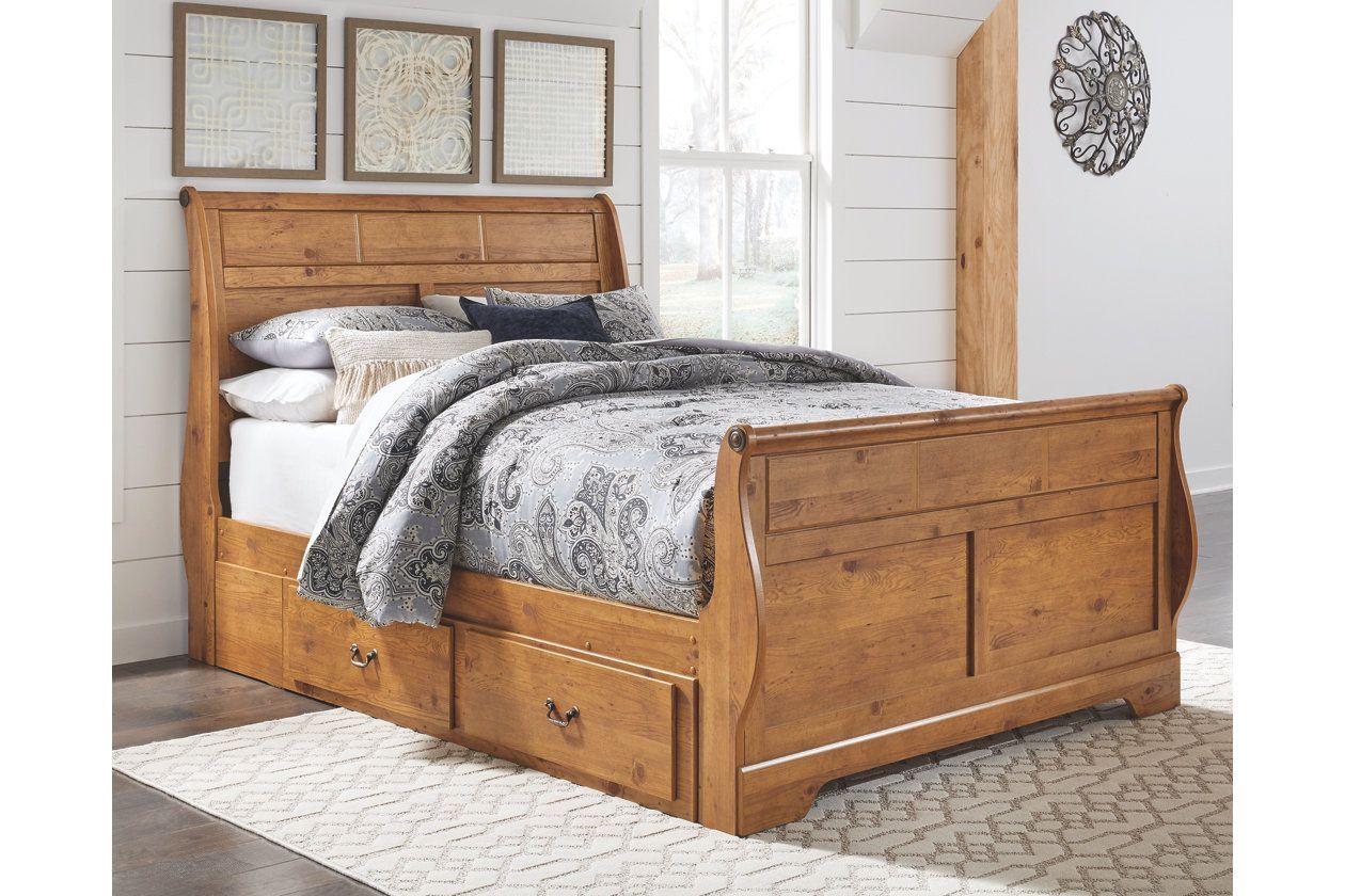 Bittersweet Queen Sleigh Bed With Storage Ashley Furniture Homestore Queen Sleigh Bed Sleigh Beds Relaxing Bedroom Decor
