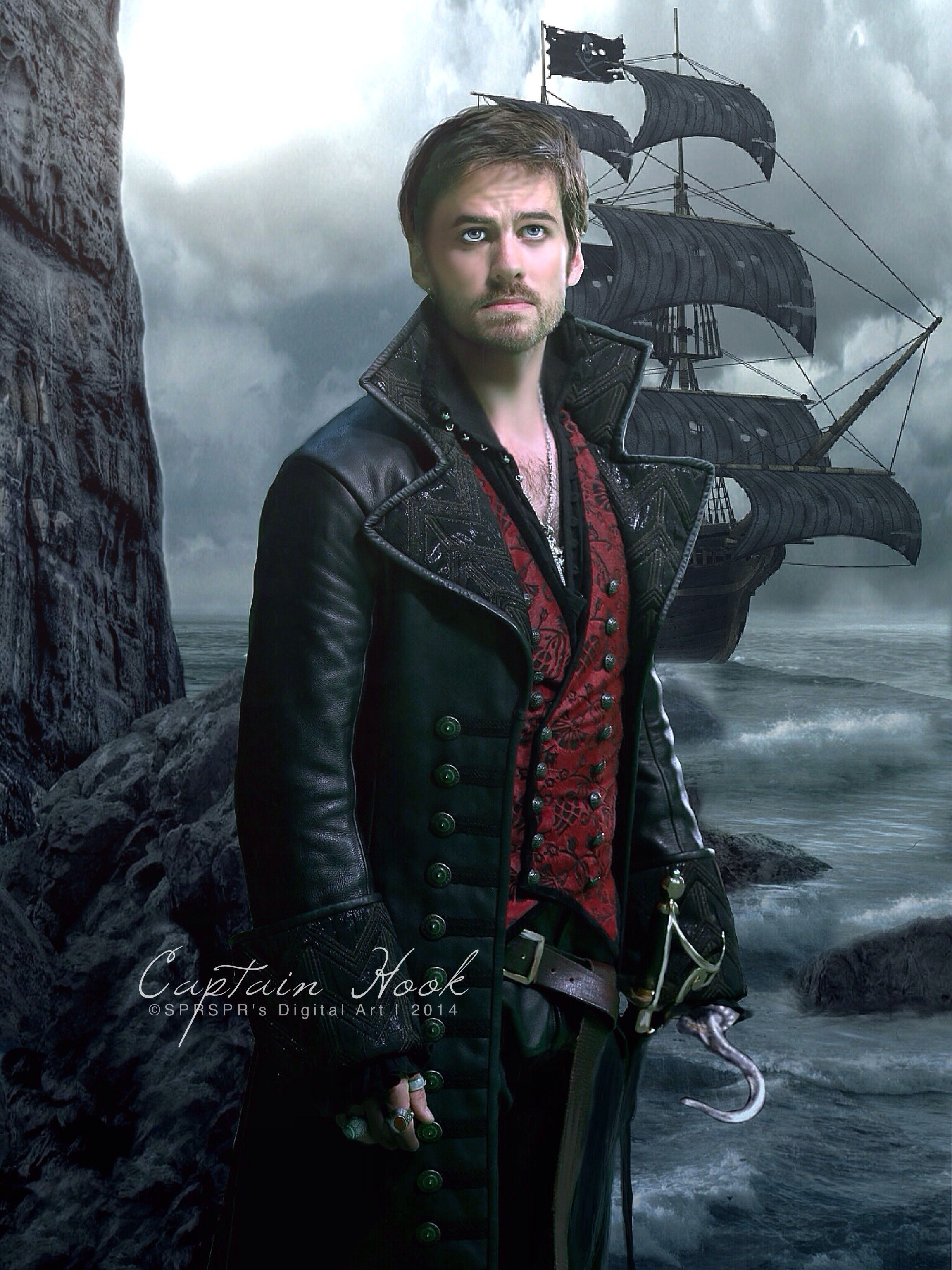 f66369b6e Captain Hook ~ Once upon a Time by SPRSPRsDigitalArt.deviantart.com ...
