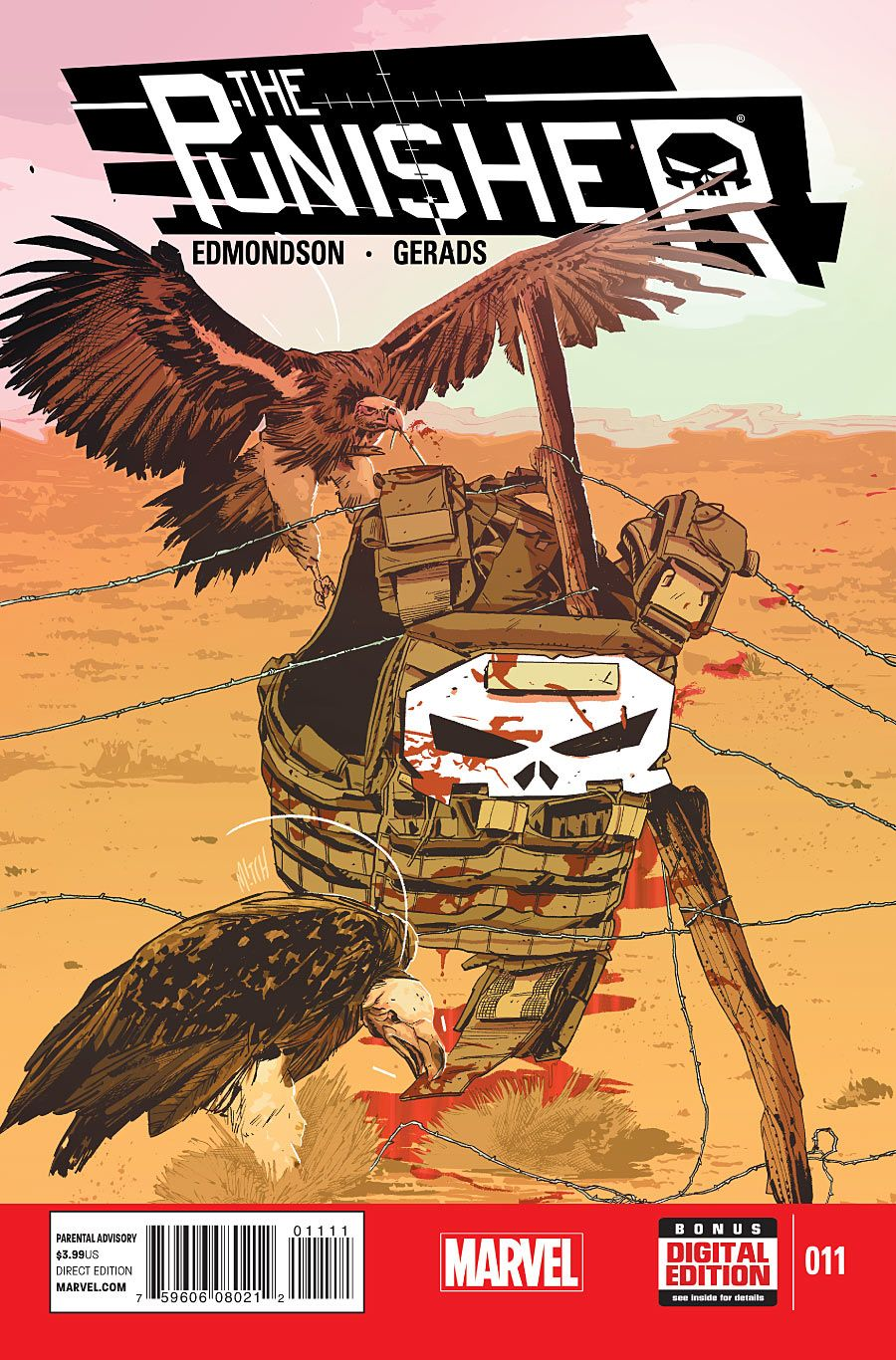 All New Punisher 11. Cover by Mitch Gerads