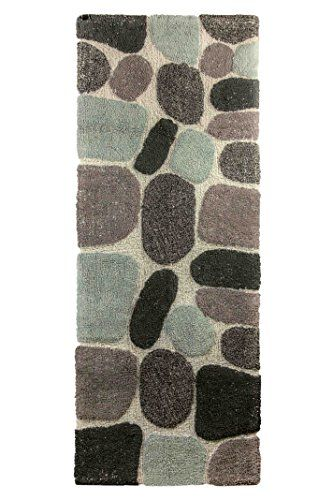 Archangel Ultra Soft Embossed Pebbles Stone Bath Mat Grey Super Absorbent Thick Rug 24 X60