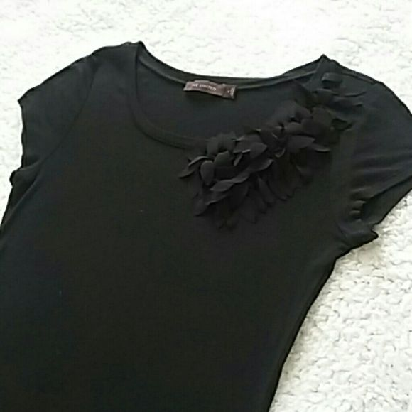 Limited Top Sz S Limited Top...Sz S...black rayon top with gorgeous flower detailing at neckline...looks and feels amazing on...worn once...in excellent condition The Limited Tops