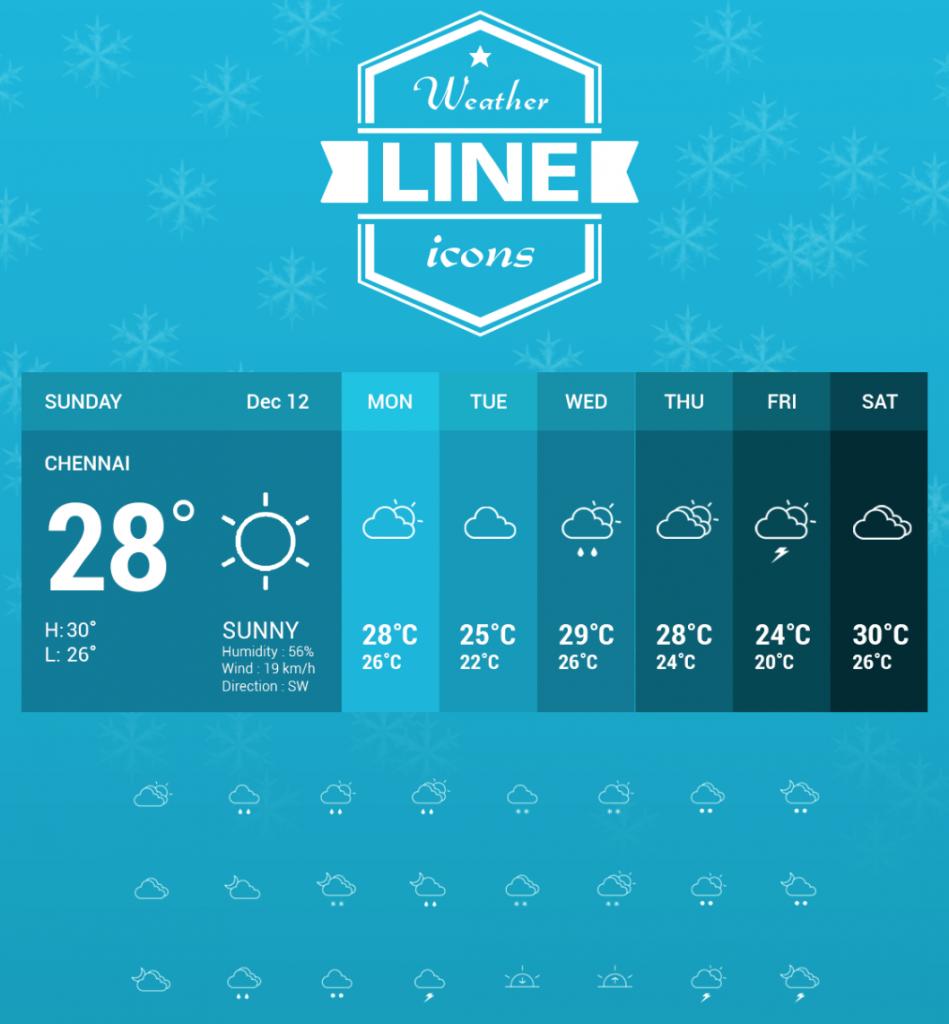 Weather Line Icons Line icon, Icon, Free icons