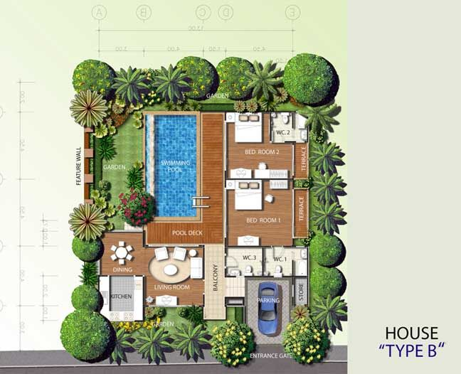 Pool Villa Floor Plan Cool House Designs Build Your Own House House Layouts