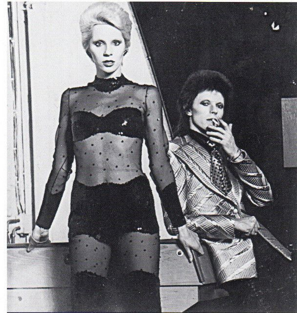 Angie and David Bowie by vanessa waterhouse, via Flickr