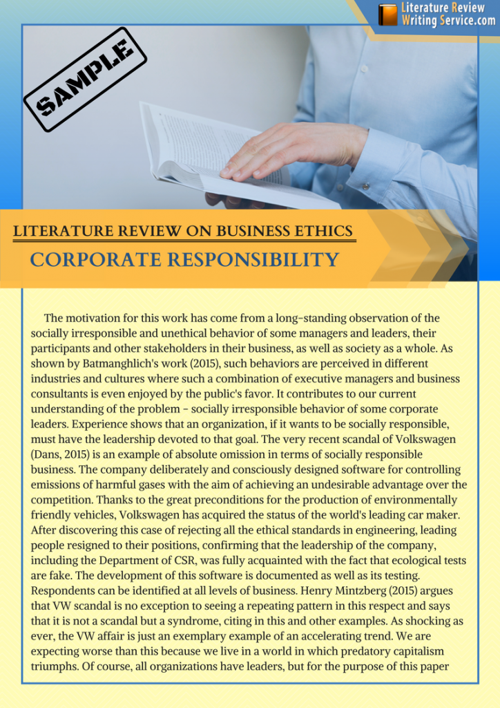 literature review ethics