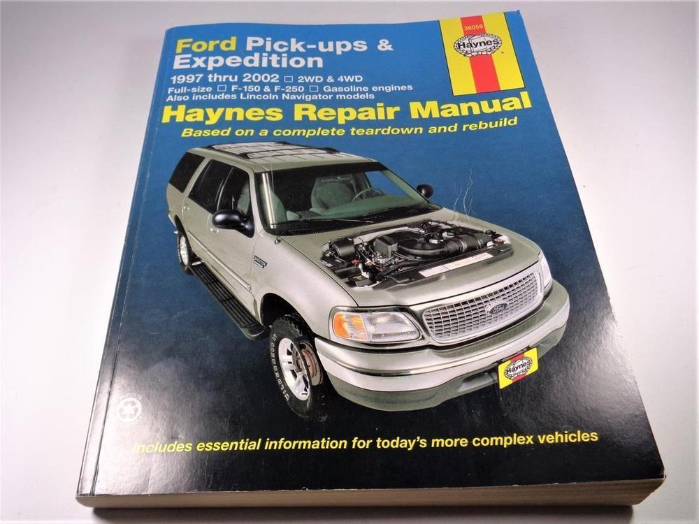 haynes 36059 ford pickups and expedition 1997 2002 repair manual rh pinterest com Haynes Repair Manual 1991 Honda Civic Haynes Repair Manuals Mazda