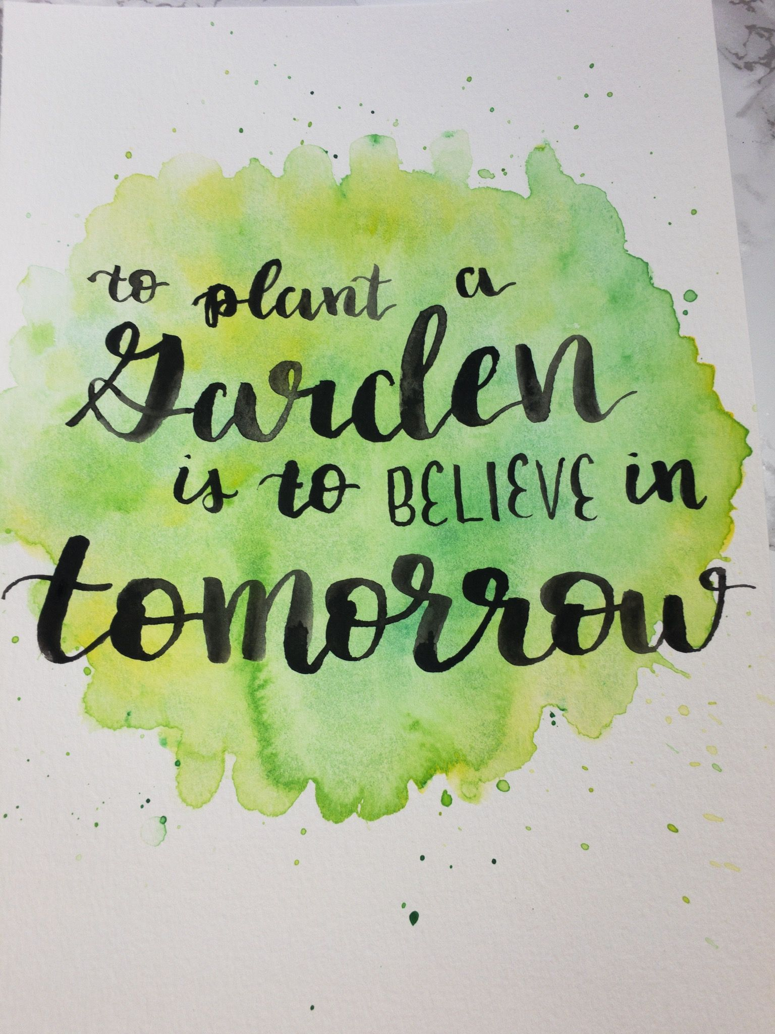 Lettering Brushlettering Watercolors Quote Inspire Hope