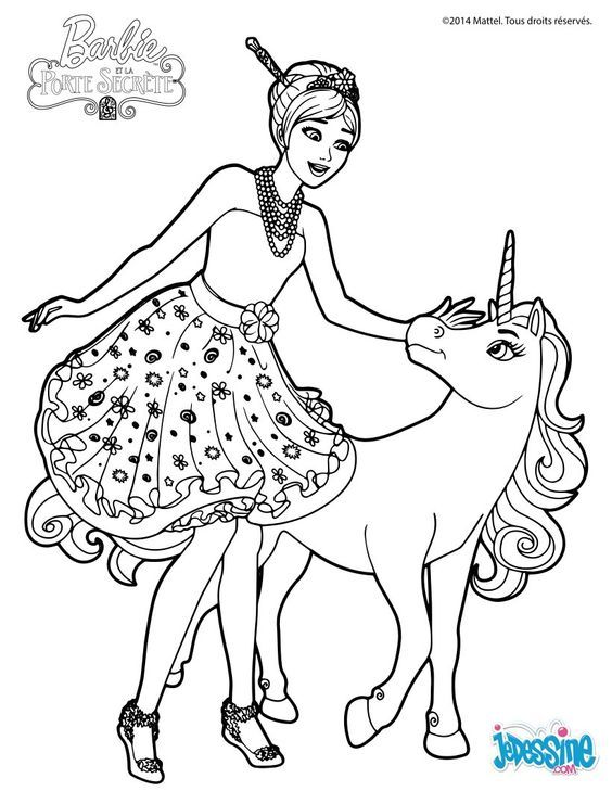 Barbie Coloring Page Unicorn Coloring Pages Barbie Coloring