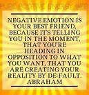 NEGATIVE EMOTION.