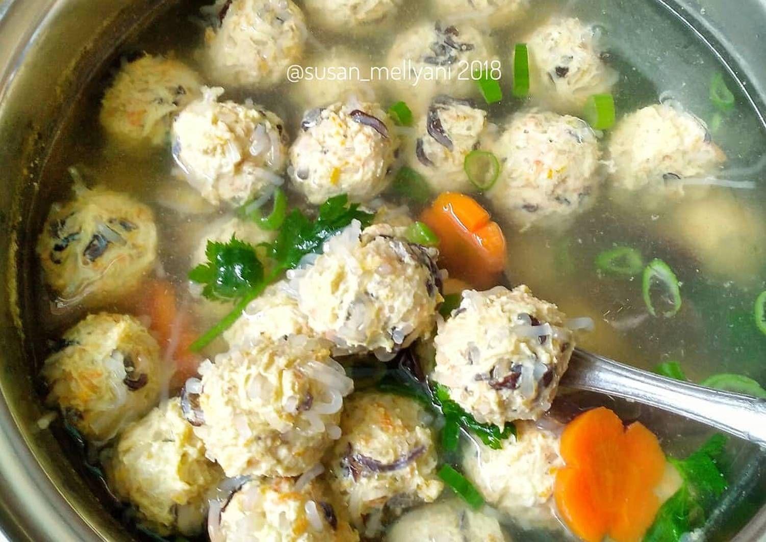 Resep Sup Bakso Serabut Bakso Lohoa Oleh Susan Mellyani Resep Resep Sup Masakan Sup Bakso