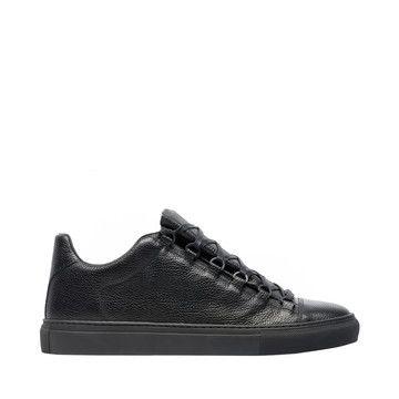 Balenciaga Sneakers Basses Cuir Grainé | Noir | Sneaker