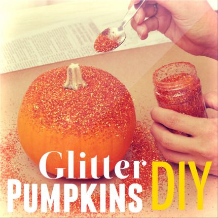 Glittering pumpkins. Need I say more?!