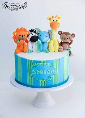 Baby safari cake Cake Inspirations Pinterest Cake