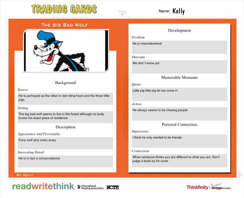 Create your own trading cards List of Apps and websites Trading - classroom list template