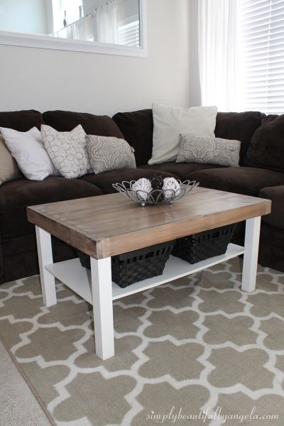 dein tisch im angesagten farmhouse style in 2019 selber machen ikea couchtisch ikea tisch. Black Bedroom Furniture Sets. Home Design Ideas
